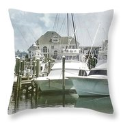Mystic Harbour Throw Pillow