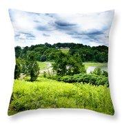 Mystic Hillside Throw Pillow