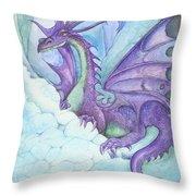Mystic Ice Palace Dragon Throw Pillow