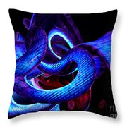 Mystic Love Abstract Throw Pillow