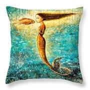 Mystic Mermaid Iv Throw Pillow