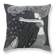 Mystic Mermaid Throw Pillow