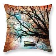 Mystic Moon Throw Pillow by Debra and Dave Vanderlaan