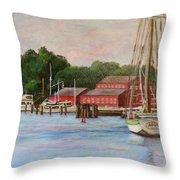 Mystic River Argia Throw Pillow