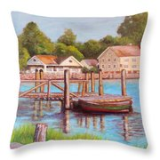 Mystic River View Throw Pillow