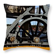 Mystic Seaport Draw Bridge Throw Pillow