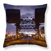 Mystic Sky Bridge Throw Pillow