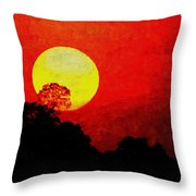 Mystic Sunset H A Throw Pillow