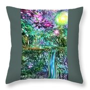 Mystic Waterfall Throw Pillow
