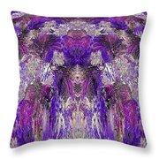 Mystic Waterfall - Purple Hues Throw Pillow