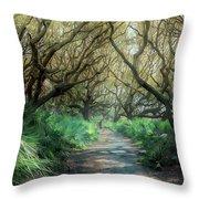 Mystical Angel Oaks  Throw Pillow