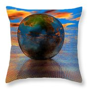 Mystical Blue Throw Pillow