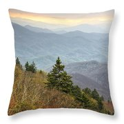Blue Ridge Mountain 3 Throw Pillow