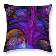 Mystical Caves Of Halyon Throw Pillow