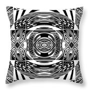 Mystical Eye - Abstract Black And White Graphic Drawing Throw Pillow