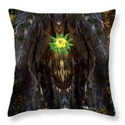 Mystical Flower Throw Pillow