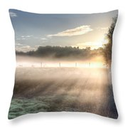 Mystical Fogs Of Florida Throw Pillow