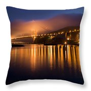 Mystical Golden Gate Bridge Throw Pillow