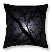 Mystical Moon Throw Pillow