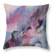 Mystical Mountains Throw Pillow