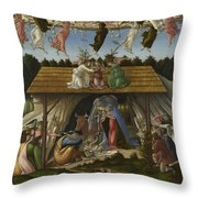 Mystical Nativity Throw Pillow