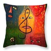 Mystical Notes Throw Pillow