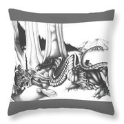 Mystical Riverbed Throw Pillow