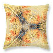 Mystical Spirals Throw Pillow