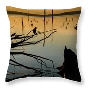 Mystical Sunrise On The Lake Throw Pillow