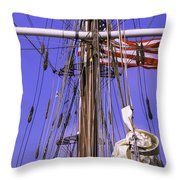 Mystic's Masts Throw Pillow