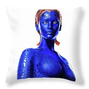 Mystique Drawing Throw Pillow