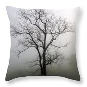 Mysty Tree 3 Throw Pillow by Marty Koch