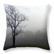 Mysty Tree Throw Pillow