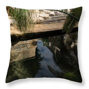 Mythical Arethusa - Wild Papyrus And Frieze Reflections Throw Pillow