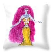 Mzia Meisouri. Beauty Girl From Space Throw Pillow