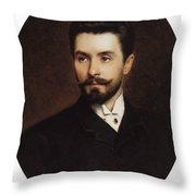 N Fitner Opera Signer Konstantin Makovsky Throw Pillow