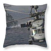 N Mh-60s Knight Hawk Delivers Supplies Throw Pillow