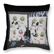 N Y C Kermit Throw Pillow