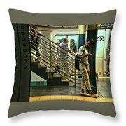 N Y C Subway Scene # 9 Throw Pillow