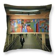 N Y C Subway Scenes # 45 Throw Pillow