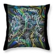 N/z Abalone /lettering Throw Pillow