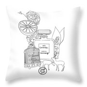 N0.5 Throw Pillow