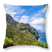 Na Pali Coast Kauai Throw Pillow