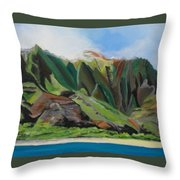 Na Pali Cruise Throw Pillow