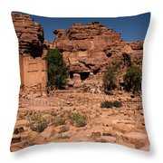 Nabatean's Village Throw Pillow