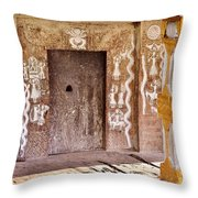 Nag Temple Doorway - Huri India Throw Pillow