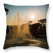 Nagasaki Peace Park Fountain Throw Pillow