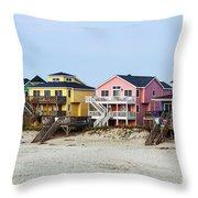 Nags Head Beach Houses Throw Pillow
