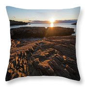 Nahant Ma Castle Rock Carved Rock Throw Pillow