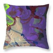 Nail Polish Abstract 15-r11 Throw Pillow
